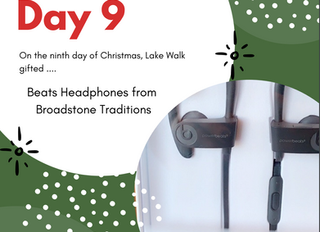 On the Ninth Day of Giveaways Lake Walk Gifted .....Beats Headphones from Broadstone Traditions