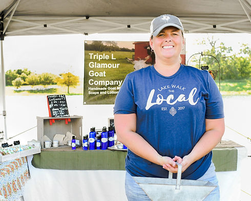 Vendor at The Local at Lake Walk, artisans, farmers, producers, crafters, market, Bryan-College Station