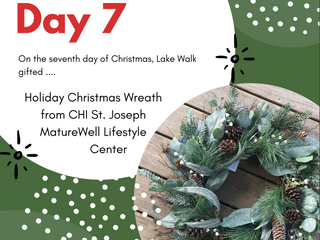 On the Seventh Day of Giveaways Lake Walk Gifted .....a Holiday Christmas Wreath from MatureWell