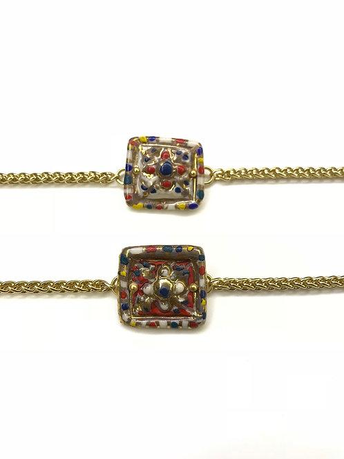Square Solitaire Garden Bracelet