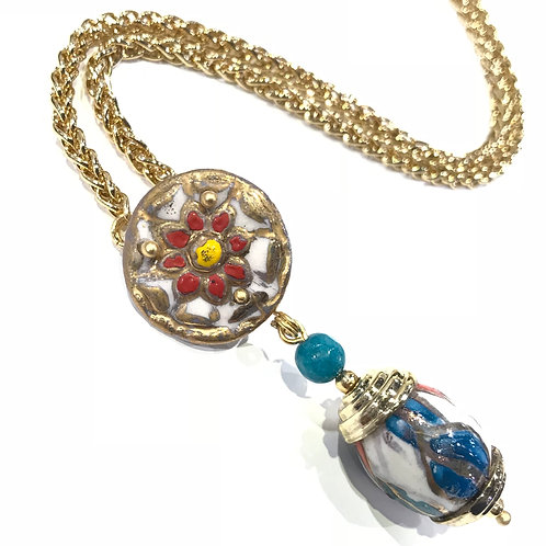 24 mm with Bead Necklace