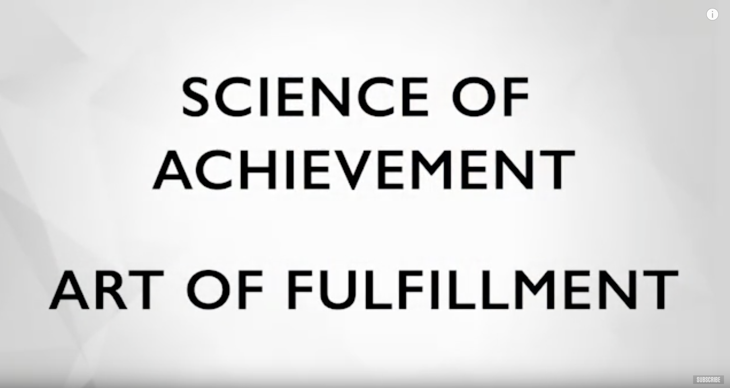 The Science of Achievement