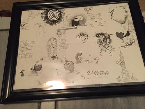 Framed Rare 2009-10 Tim Burton MOMA Program