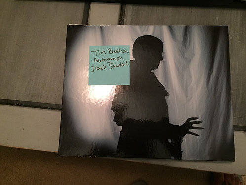 Rare Tim Burton Signed Dark Shadows Visual Companion Book