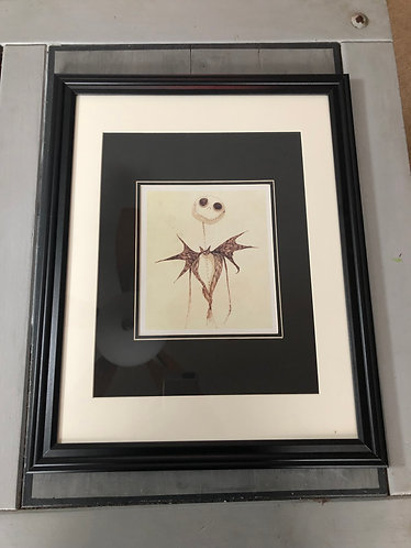 Nightmare before Christmas Disney Limited Matted Print Professionally Framed