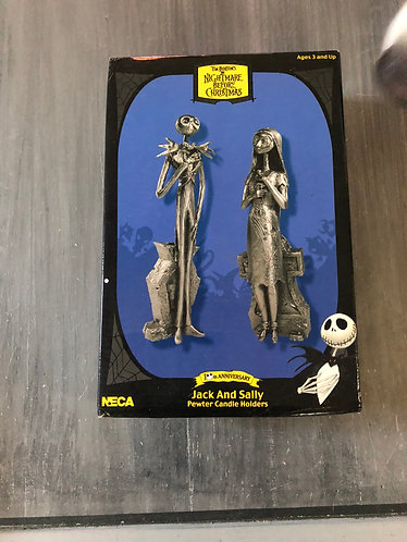Nightmare before Christmas Neca Pewter Candle Holders