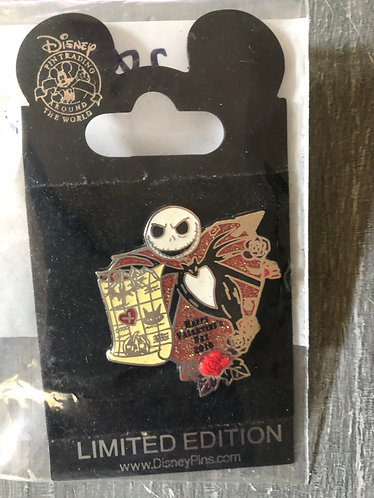 Nightmare before Christmas Jack Rose Pin LE 2000