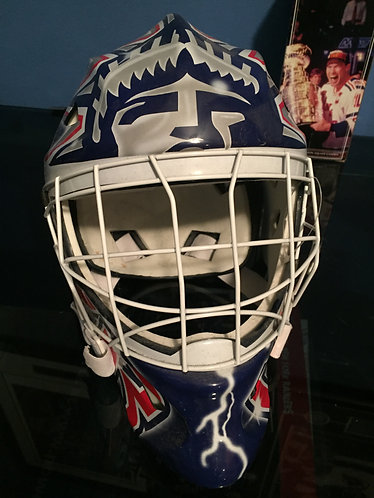 Henrik Lundqvist signed NY Rangers ITech Replica Helmet