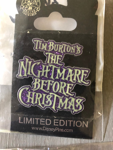 Nightmare before Christmas Title Pin LE 300