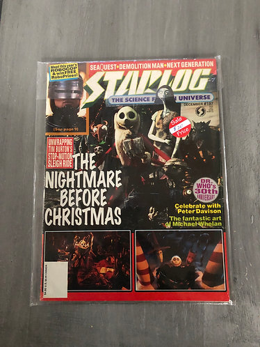 Starlog Magazine with Nightmare before Christmas Release Write-up