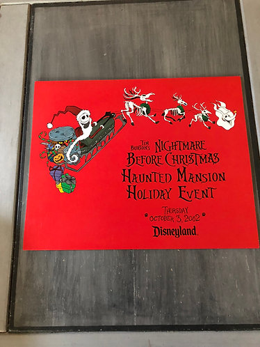 Nightmare before Christmas Haunted Mansion Event 2002 Rare Litho