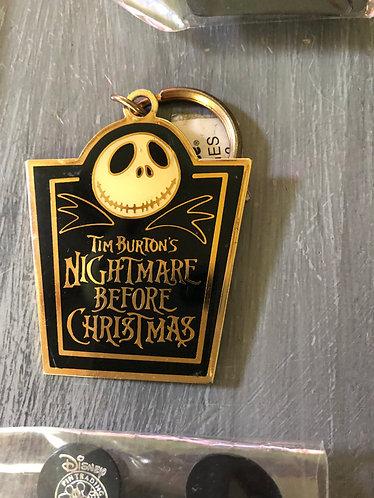 Nightmare before Christmas 1993 Keychain Metal