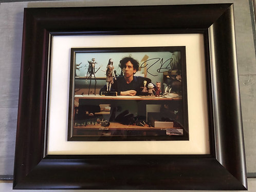 Tim Burton Signed Nightmare before Christmas Set Photo