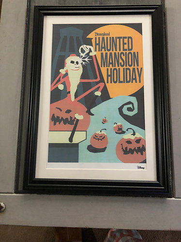 Nightmare before Christmas Haunted Mansion Holiday Print