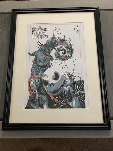 Nightmare before Christmas Character Spiral Hill Print