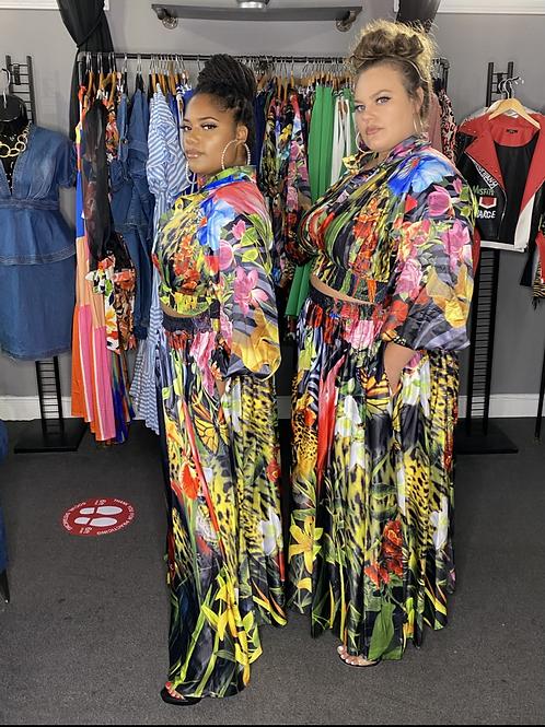Floral Jacket & Skirt