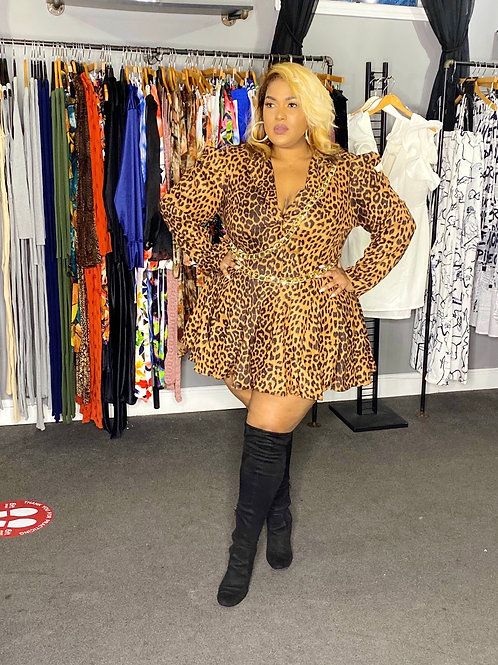 Leopard Chain Dress