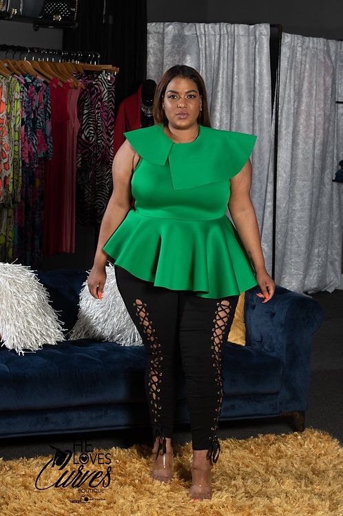 Kelly Green Leaf Top
