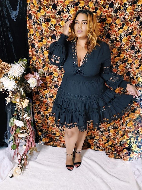 It's Her Blackout Babydoll Dress