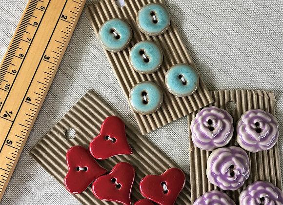 Ceramic Buttons - medium/large