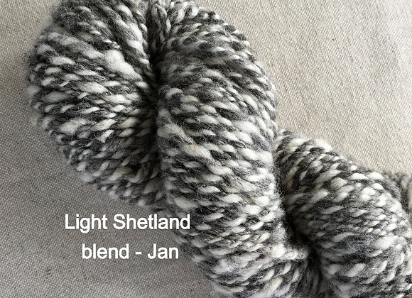 Art Yarn - Hand Spun - Shetland blend Yarn