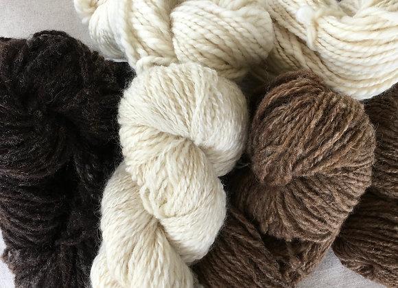 3 Bags Wool - Hand Spun