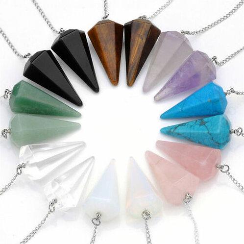 Crystal Quartz Pendulum Healing Dowsing Reiki Pendant
