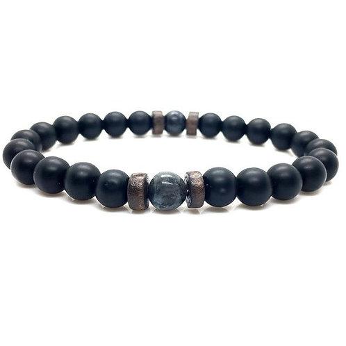 Men's Bracelet Natural Moonstone Bead Tibetan Buddha Bracelet