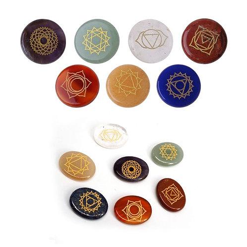 7Pcs Chakra Stones Reiki Healing