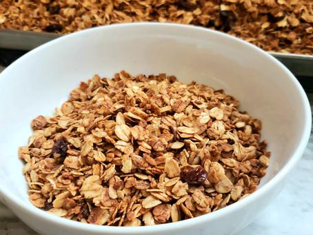 DIY Cinnamon Raisin Granola