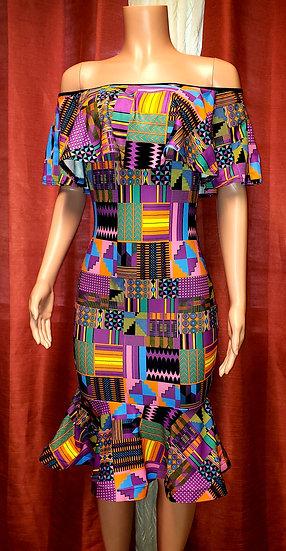 Ankara Stretch Dress