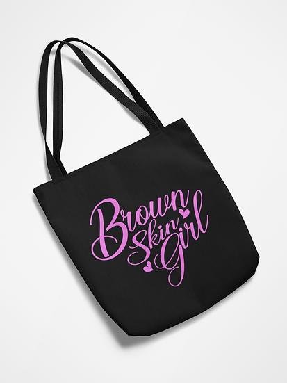 Brown Skin Girl Tote Bag
