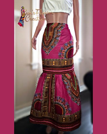 Dashiki Wrap Skirt