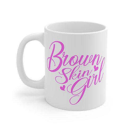 Brown Skin Girl Mug Pink