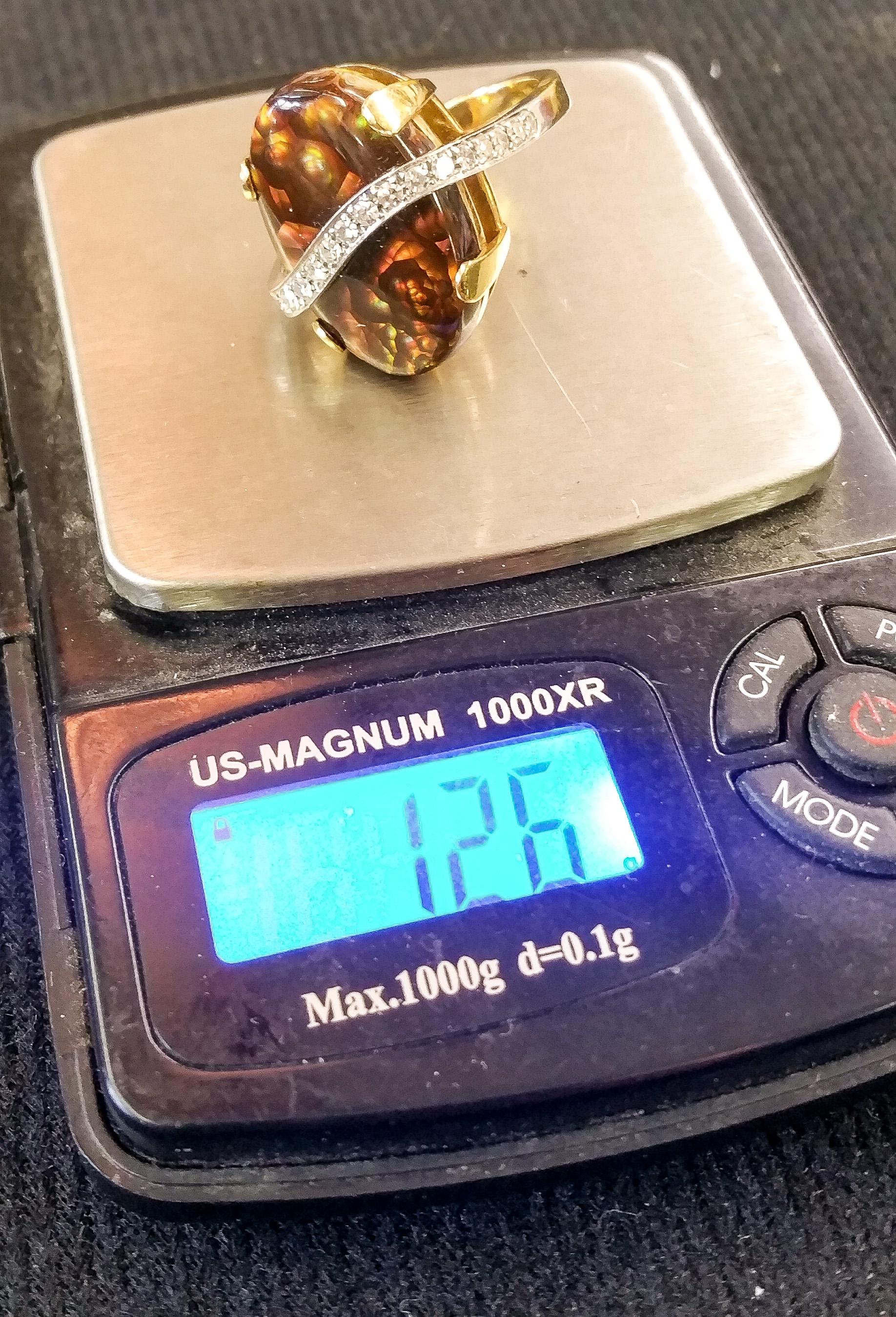 Boulder Opal Designer Ring c