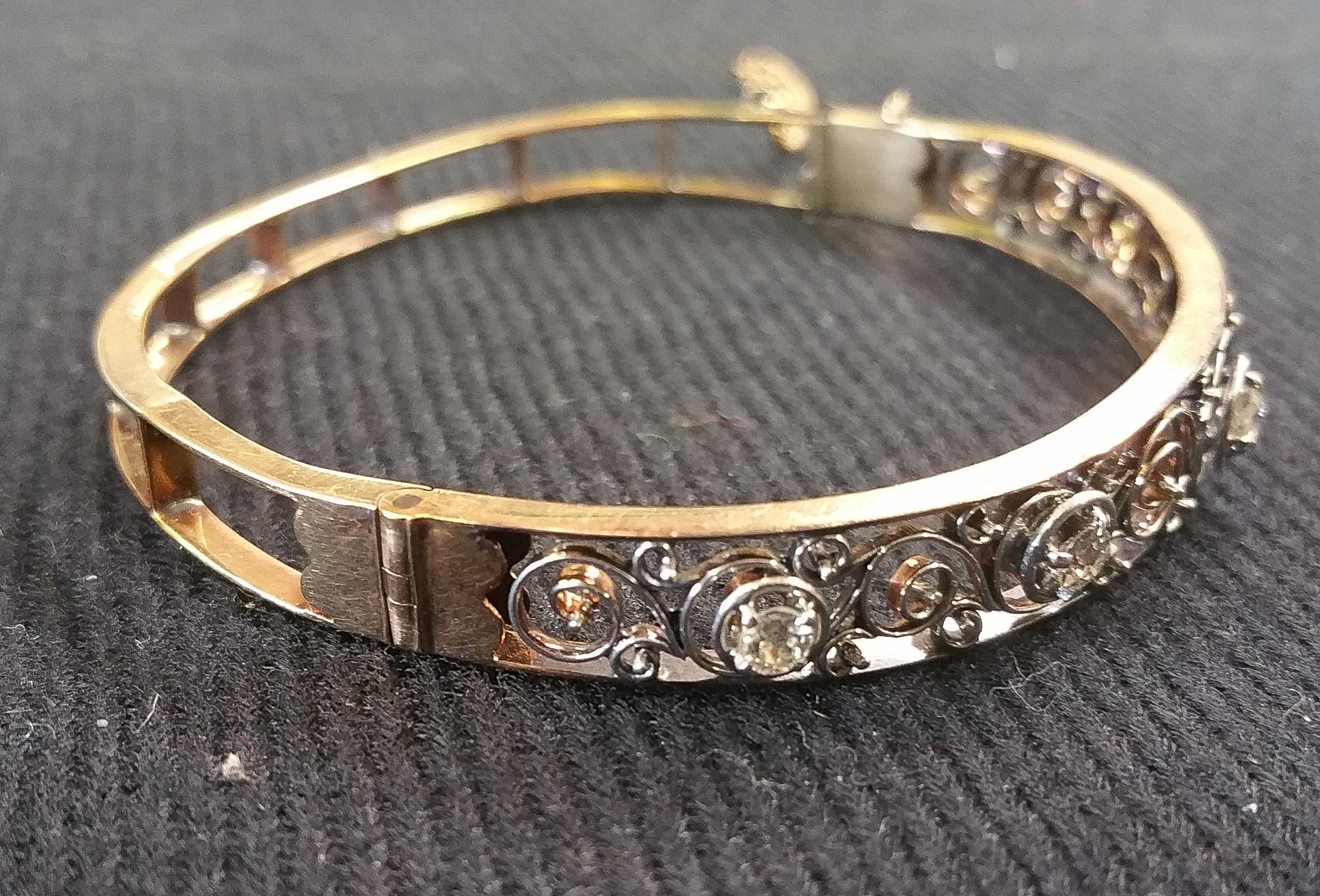 14kt and Diamond Vintage Bracelet b