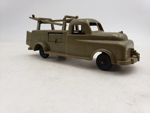 VINTAGE IDEAL TOYS 1950s HARD PLASTIC ARMY SIGNAL CORPS TRUCK