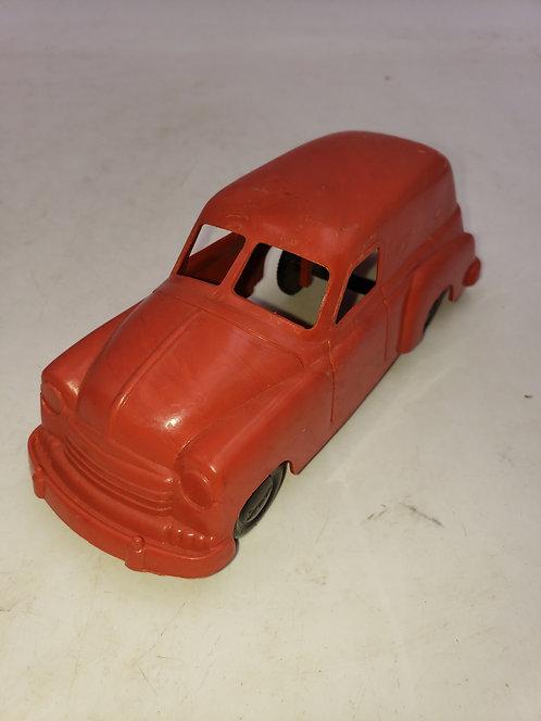 Irwin Red Plastic Toy Delivery Van