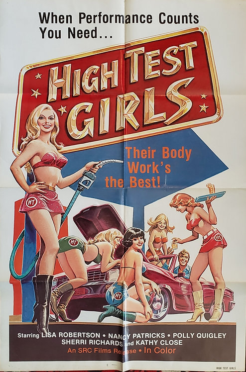 HIGH TEST GIRLS ORIGINAL MOVIE ONE SHEET MOVIE POSTER