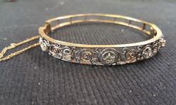 14kt and Diamond Vintage Bracelet a