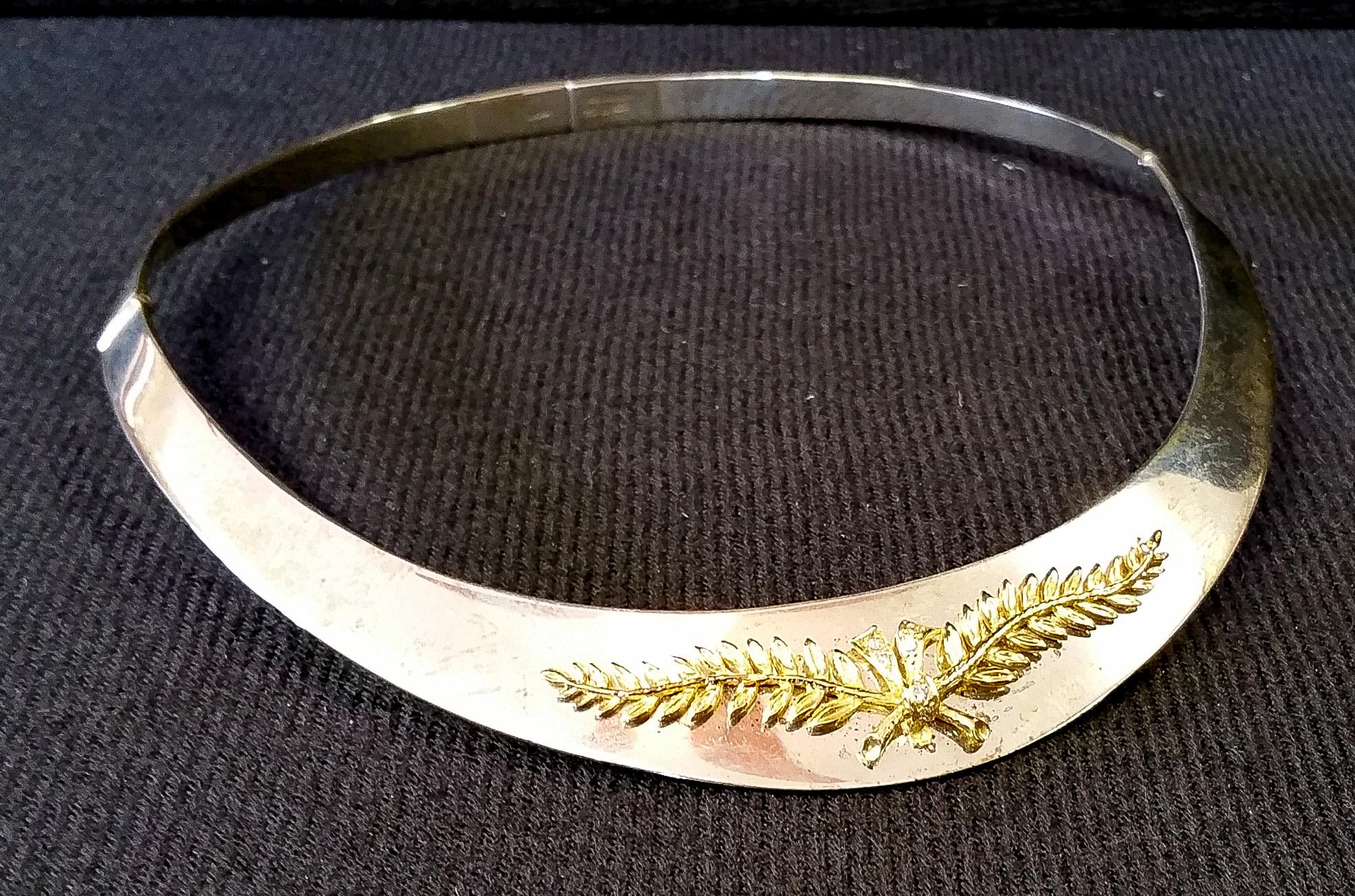 Ilias Lalaounis silver gold collar b