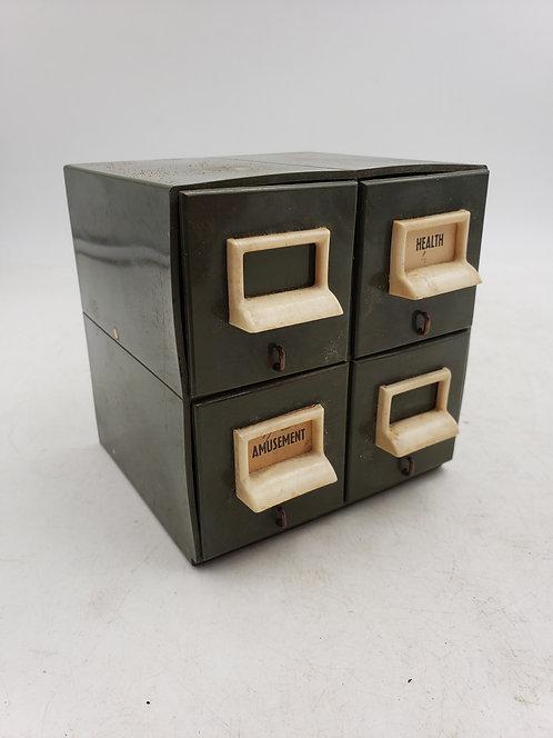 Plastic File Drawer Bank - Vintage Novelty