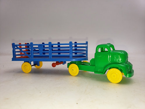 Vintage Banner Plastic Truck -  Green and Blue