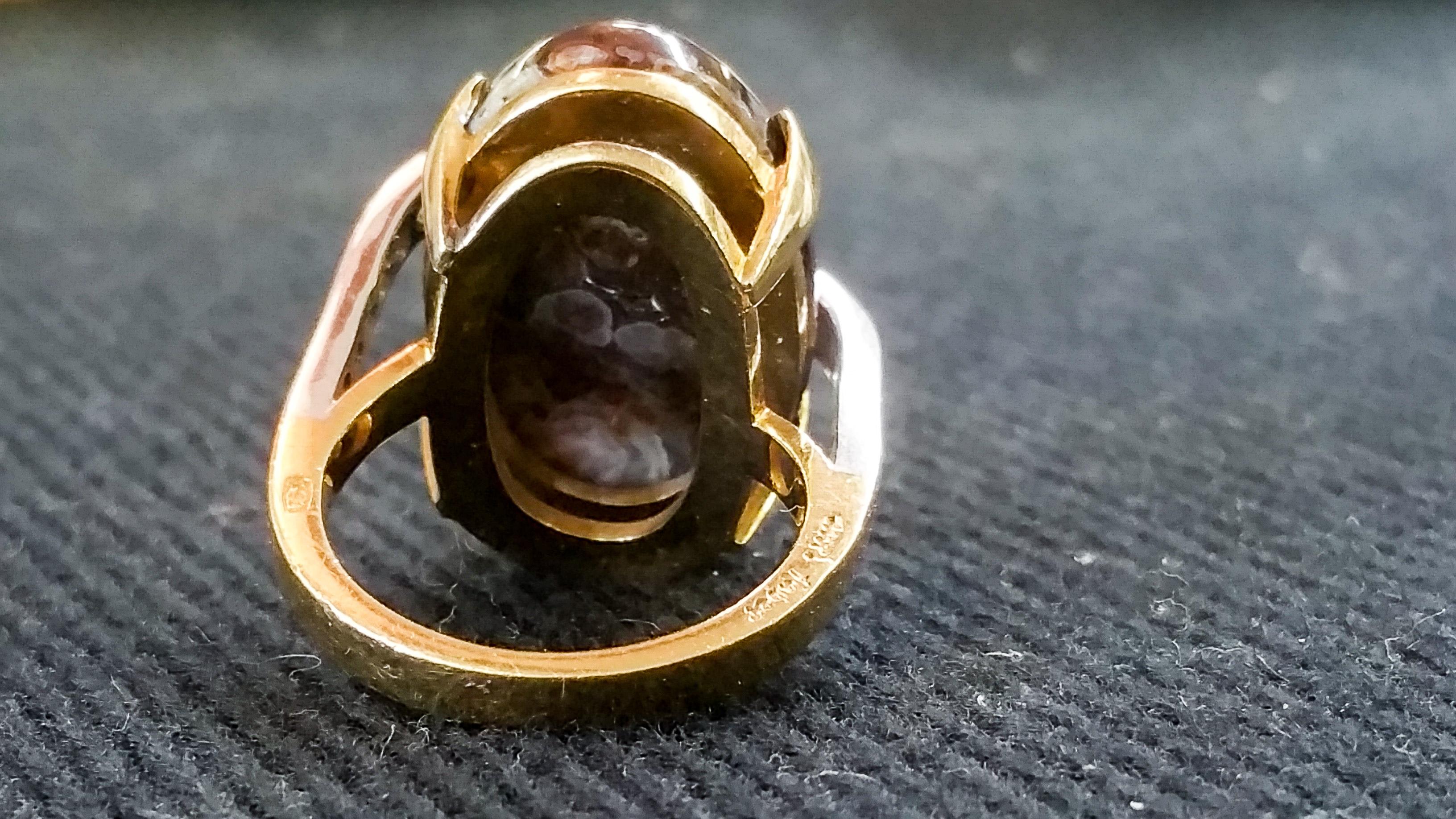 Boulder Opal Designer Ring b