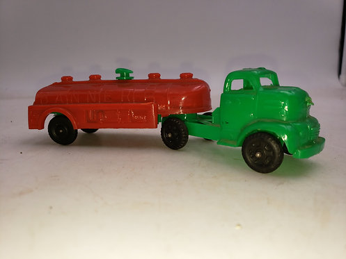 Vintage Banner Plastic Truck -  Red and Green