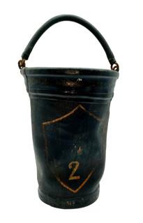 19 C Leather Fire Bucket: New Paltz NY No.2