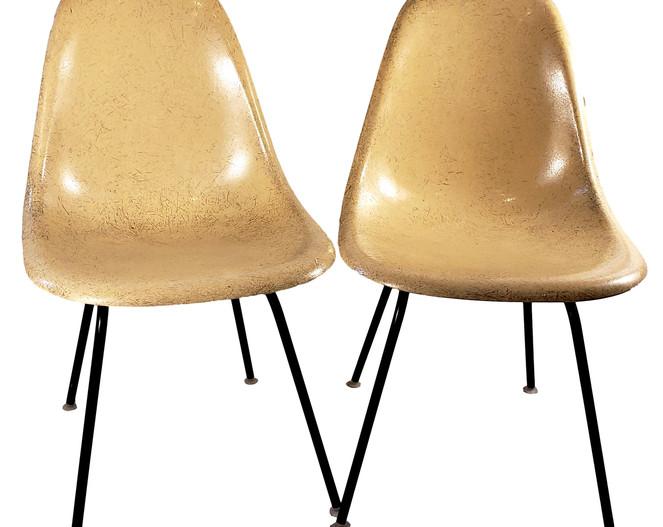 1960s Herman Miller Charles Eames Yellow