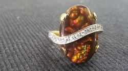 Boulder Opal Designer Ring a