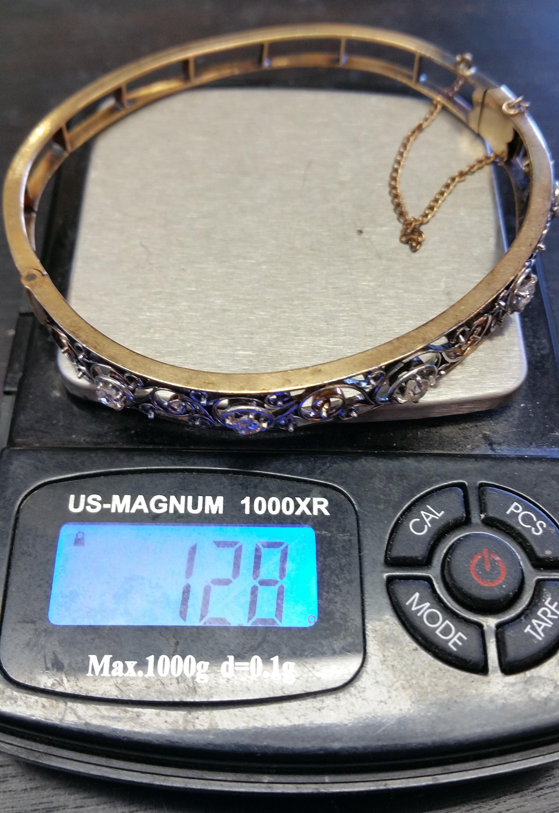14kt and Diamond Vintage Bracelet e