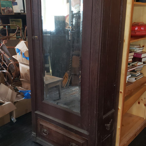 Victorian Armoire with  Beveled Mirror Door